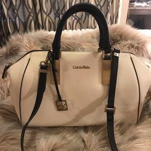 Calvin Klein Cream & Black Handbag
